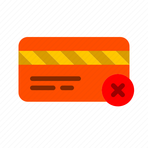 cancel, card, credit, delete, finance, unauthorized icon