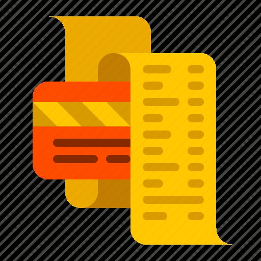 bill, card, credit, dollar, finance, money, payment icon