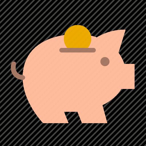 bank, finance, money, pig, porky, safe icon