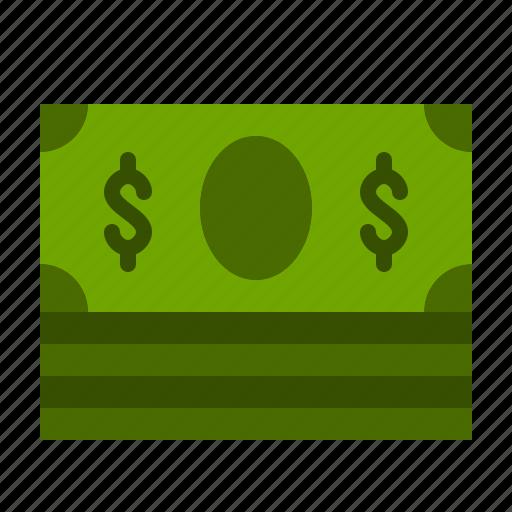 bank, bill, dollar, finance, money, pile, rich icon