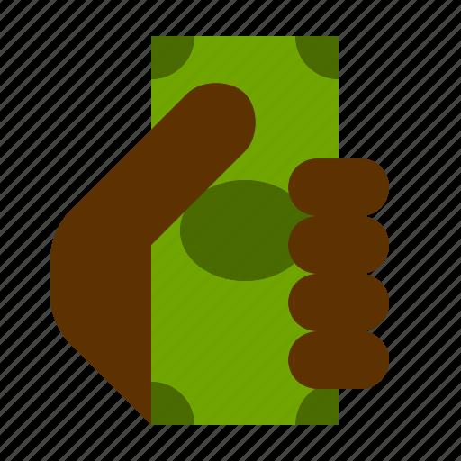 bill, dollar, finance, hand, hold, money icon