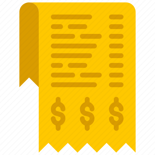 bank, bill, finance, money, paper icon