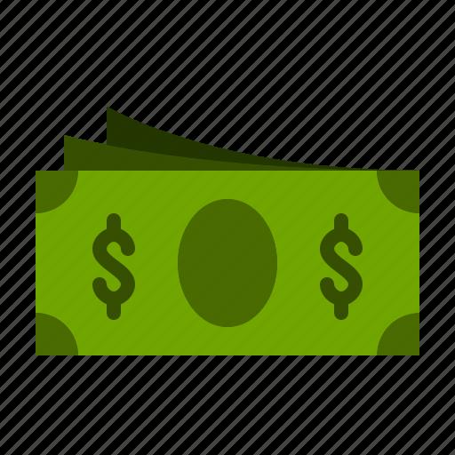 bill, dollar, finance, money, paper icon