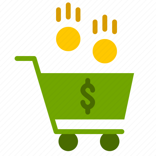 buy, cart, coin, finance, shop icon