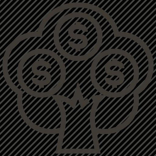 Finance, dollar, money, money tree, tree icon - Download on Iconfinder