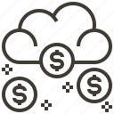 cloud, dollar, finance, money icon