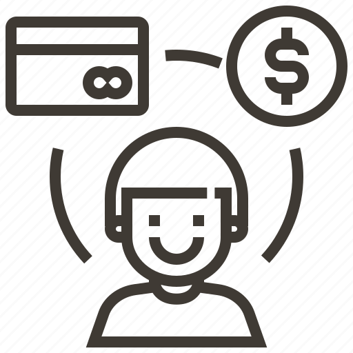 avatar, credit card, dollar, money icon