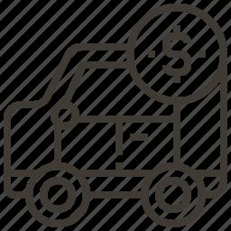 car, dollar, money, vehicle icon