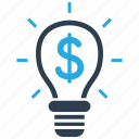 bulb, business, finance, idea icon