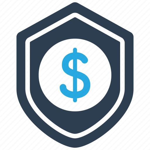 financial, protect, protection, shield icon