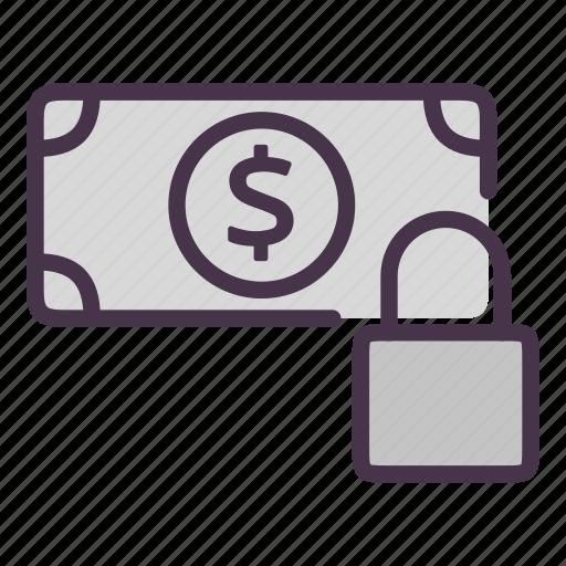 dollar, dollar flow, lock, money, security, ssl, transaction icon