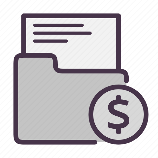 business, files, finance, folder icon