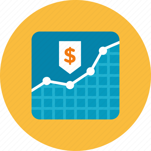 graph, money icon