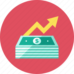 increase, money icon