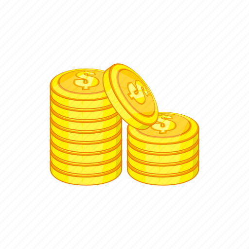 cartoon, coin, currency, finance, investment, money, wealth icon