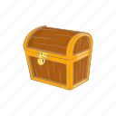 box, cartoon, chest, dower, retro, rich, treasure