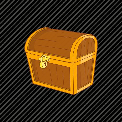 box, cartoon, chest, dower, retro, rich, treasure icon