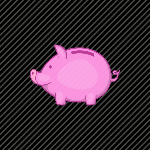 bank, banking, business, cartoon, money, piggy, saving icon