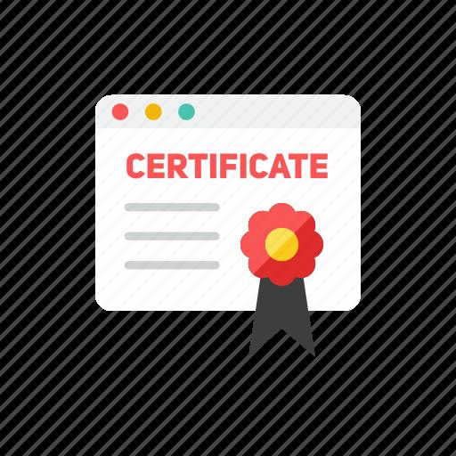 achievement, certificate, prize, reward, success, trophy icon
