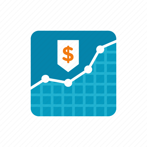 business, currency, financial, graph, money icon
