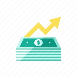 currency, ecommerce, finance, financial, increase, money icon