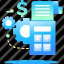 bill, invoice, manage, service icon