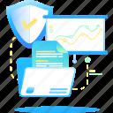 analytics, data, safety, secure icon