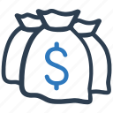 investment, loan, money bag icon
