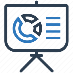 analytics, business presentation, pie chart, presentation, statistics icon