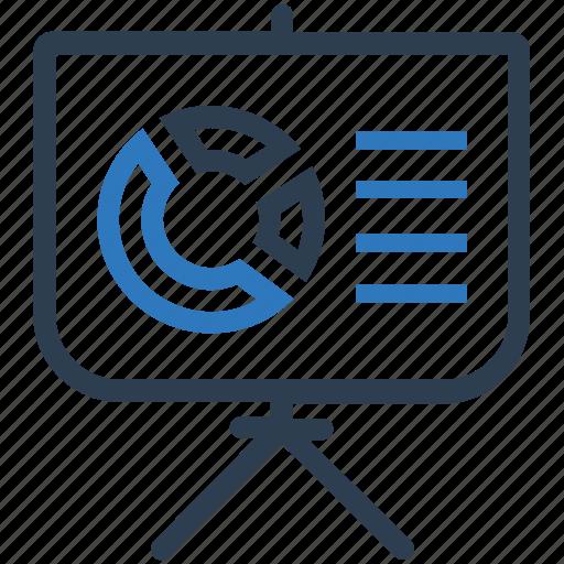 pie chart, presentation, statistics icon