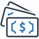 black cash, cash, dollars, finance profit, money, revenue, savings icon