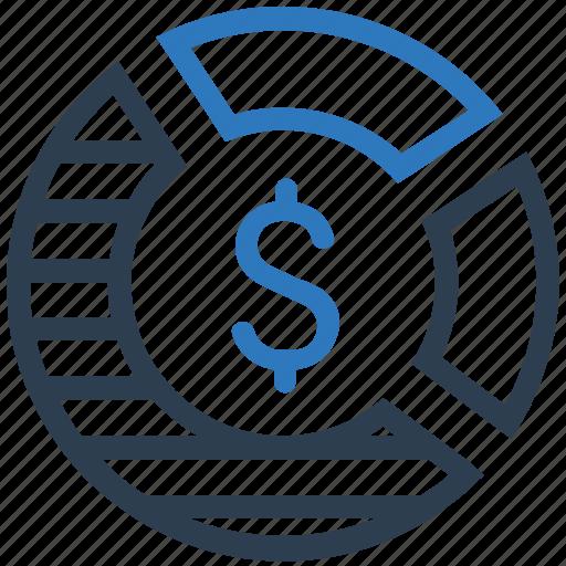 analytics, money, pie chart, sales report, statistics icon