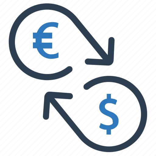 currency conversion, currency exchange, money conversion icon