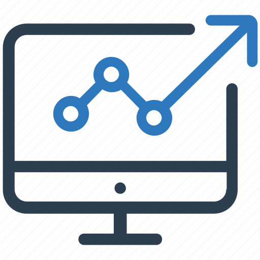 activity, activity report, laptop, market activity, monitoring icon