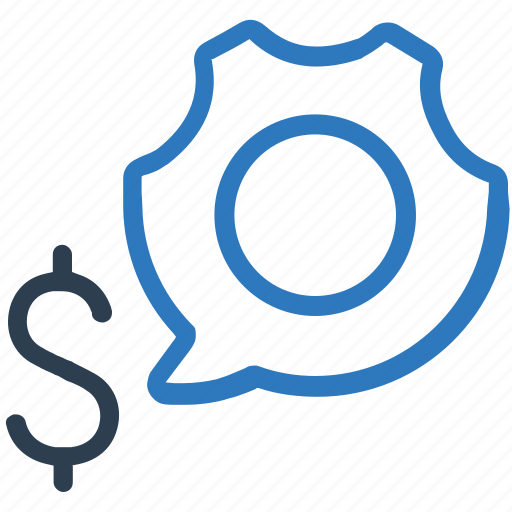 business, business setting, dollar sign, funds, money, settings icon