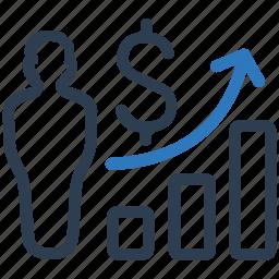 bar chart, bar graph, business, chart, growth chart, profit, progress chart icon