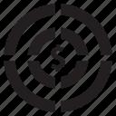 aim, budget, money, profit, target icon