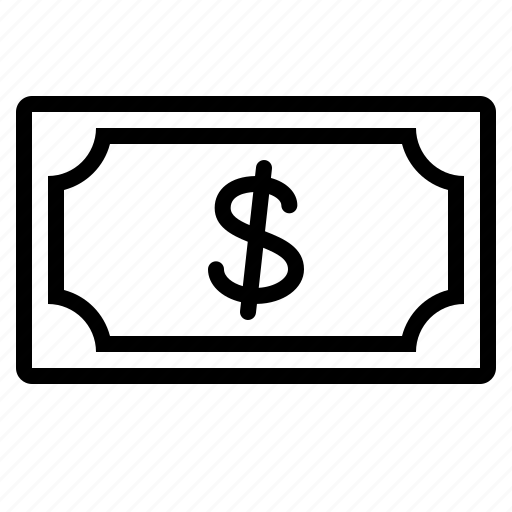 bill, cash, finance, money, note, pay, payment icon