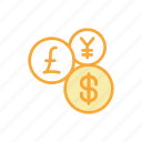 coin, currency, dollar, euro, finance, money, payment icon