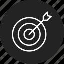 dart, goal, success, target icon
