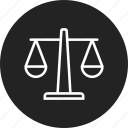 justice, law, scales icon