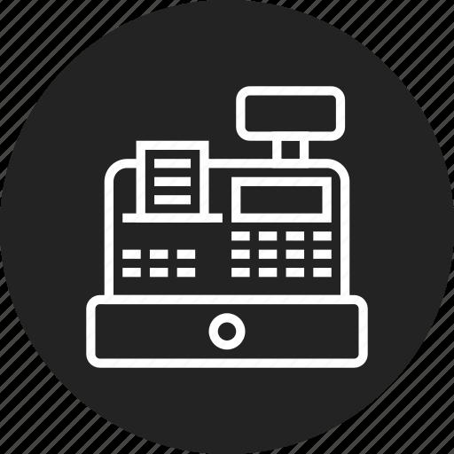 cash, register, retail icon