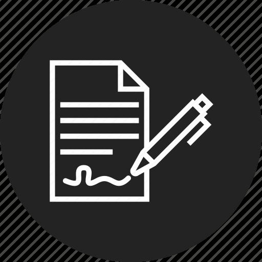 agreement, contract, document icon