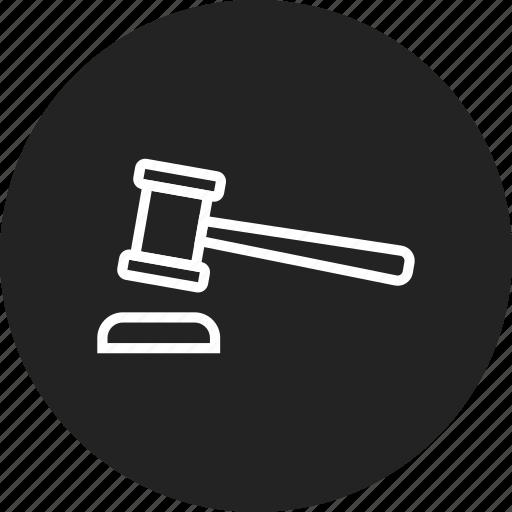 auction, gavel, judge icon