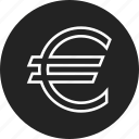 coin, euro, sign icon