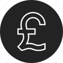 coin, pound, sign icon