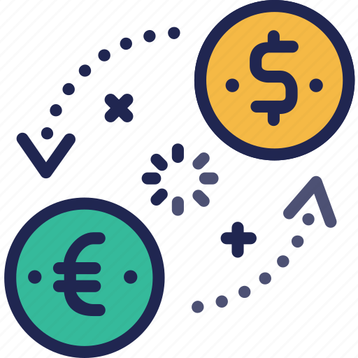 business, coin, currency, dollar, euro, exchange, finance icon