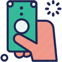 bank, cash, finance, hand, money, pay, payment icon
