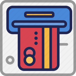 atm, bank, banking, business, credit, finance, withdrawal icon