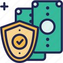 business, currency, finance, money, protect, protection, security icon